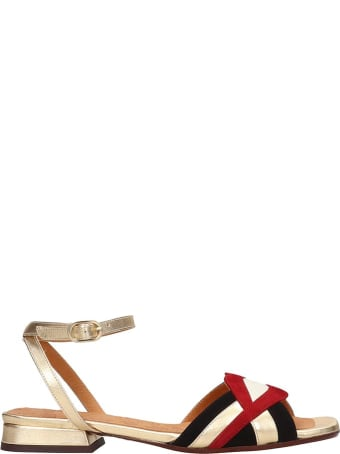 Chie Mihara Timai  Flats In Red Suede And Leather
