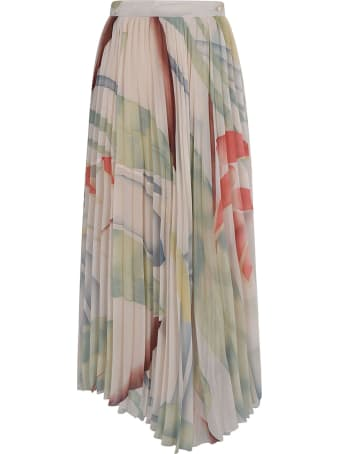 Etro Long Fantasy Pleated Skirt