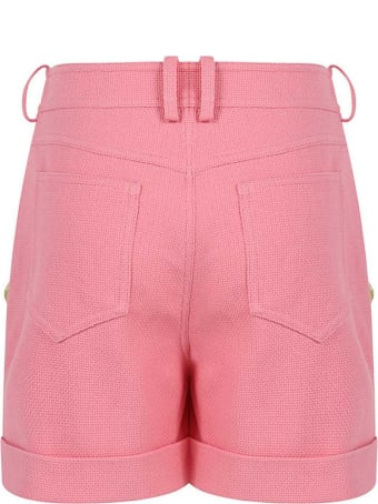 Balmain Rose Pink Cotton Shorts
