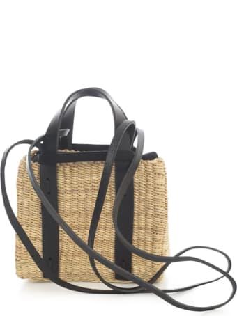 Muun Square Straw Shopping Bag W/insert