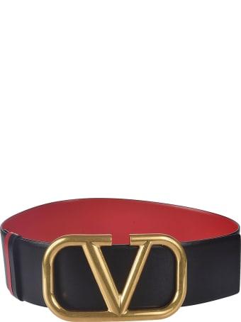 Valentino Garavani V Logo Buckle Belt