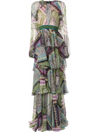 Dsquared2 Multicoloured Silk Blend Dress