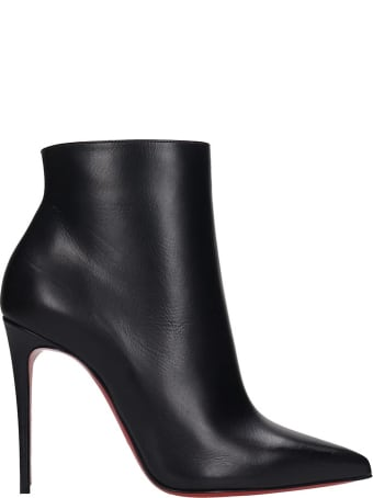 Christian Louboutin So Kate 100  Ankle Boots In Black Leather
