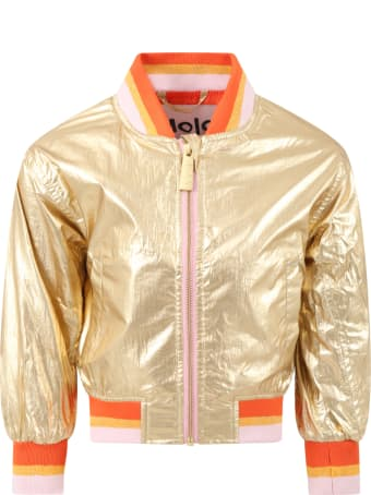 Molo Gold ''haliva'' Jacket For Girl