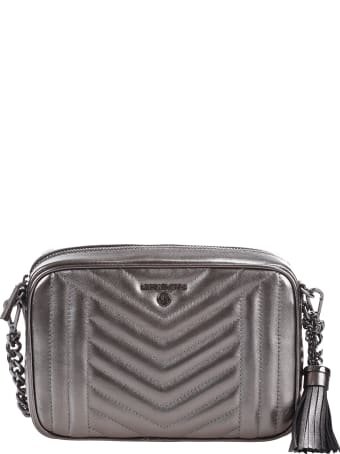 """MICHAEL Michael Kors """"jet Set"""" Medium Camera Bag In Quilted Leather"""