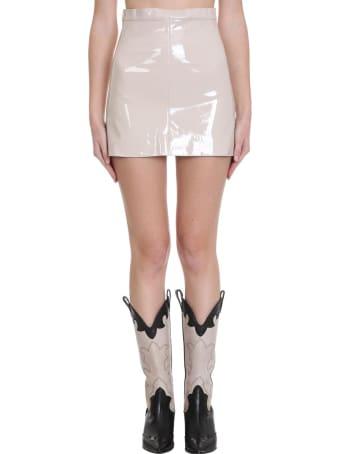 TPN3 Skirt In Beige Faux Leather