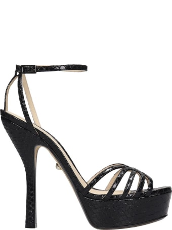 Alevi Caterina 090 Sandals In Black Leather