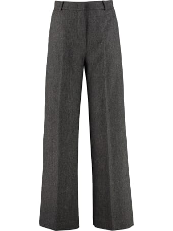 Weekend Max Mara Calais Stretch Wool Tailored Trousers