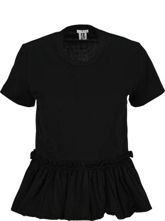 Noir Kei Ninomiya Ruffle-hem T-shirt