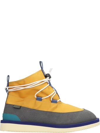 SUICOKE Hobbs  Combat Boots In Yellow Tech/synthetic
