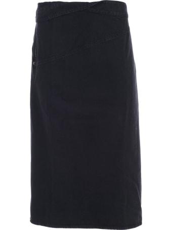 Jacquemus Denim Foldover Skirt