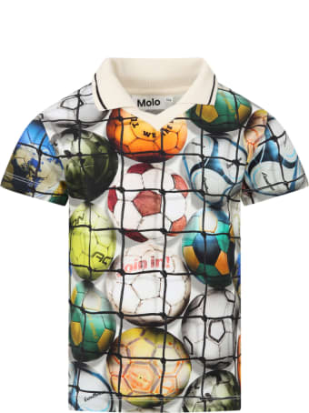 Molo Multicolor ''ren'' Polo Shirt For Boy