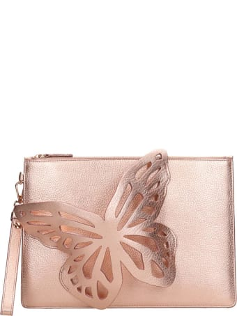 Sophia Webster Floss Butterfly Clutch In Rose-pink Leather
