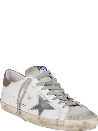 Golden Goose White Leather Super-star Sneakers