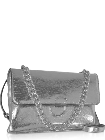 Roccobarocco Bento Laminated Eco-leather Shoulder Bag