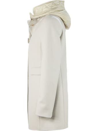 Fay White Virgin Wool Toggle Coat