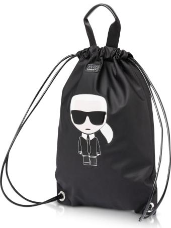 Karl Lagerfeld K/ikonik Nylon Flat Backpack