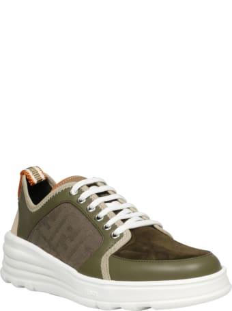 Fendi Ff Jaquard Sneakers