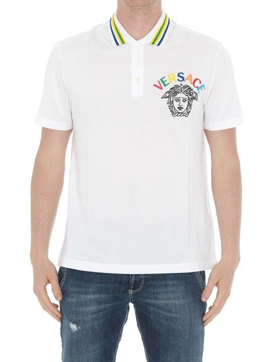 Versace Logo Rainbow Polo