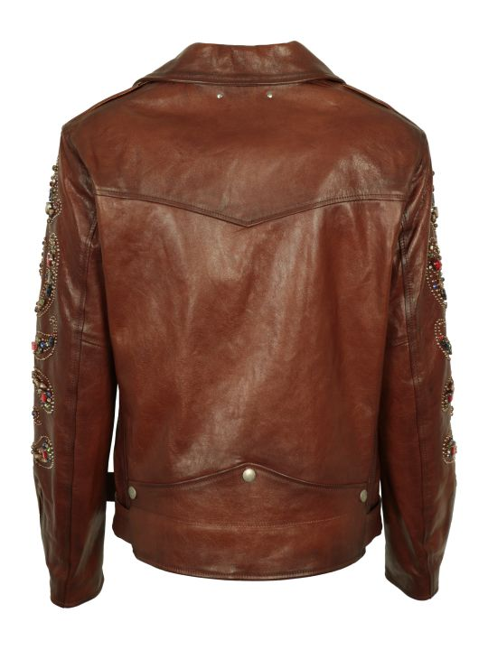 Golden Goose Victoria Belted Leather Jacket
