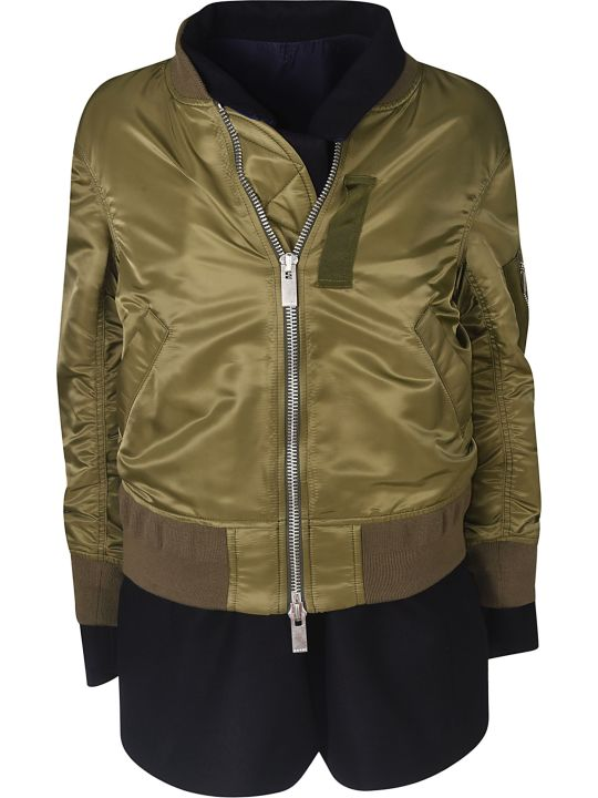 Sacai Double Layered Zipped Jacket