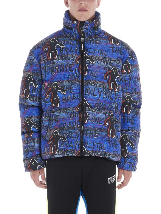 Diesel 'only The Brave Graffiti' Down Jacket