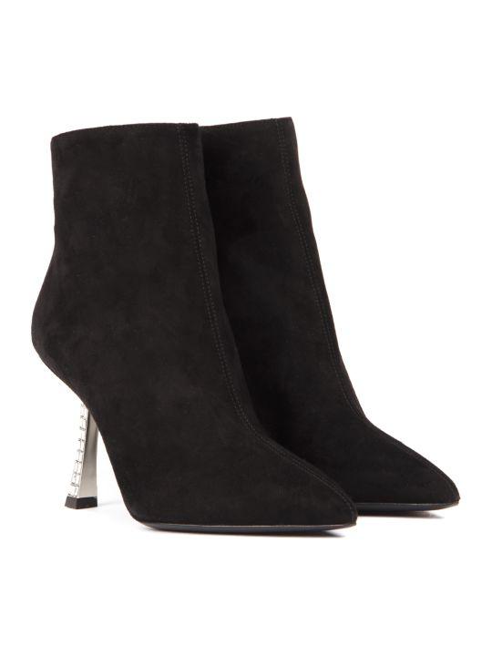 Giuseppe Zanotti Black Suede Farrah Fancy Ankle Boots