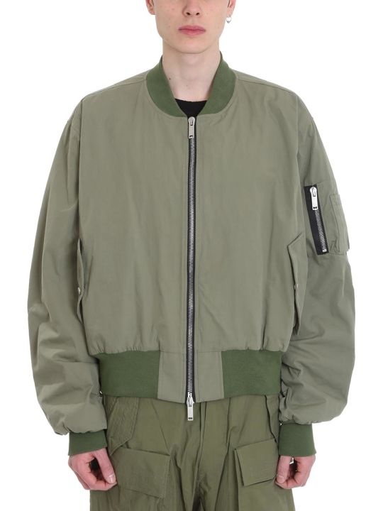 Ben Taverniti Unravel Project Bomber Oversized Green Cotton Jacket