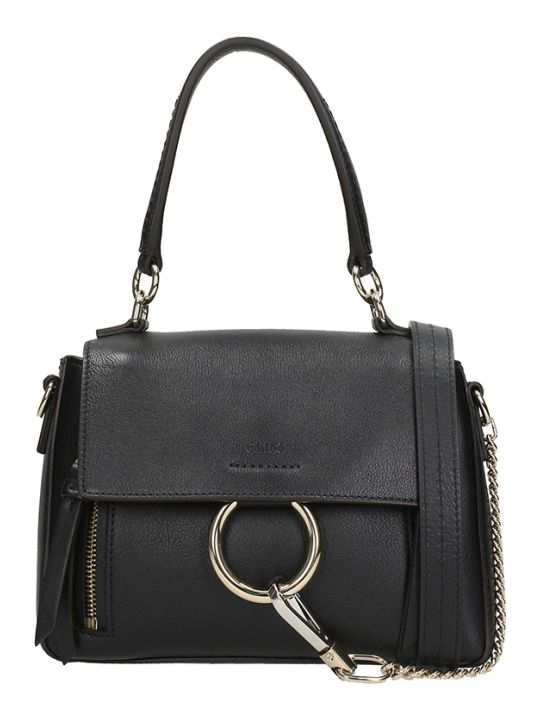 Chloé Black Leather Mini Faye Bag