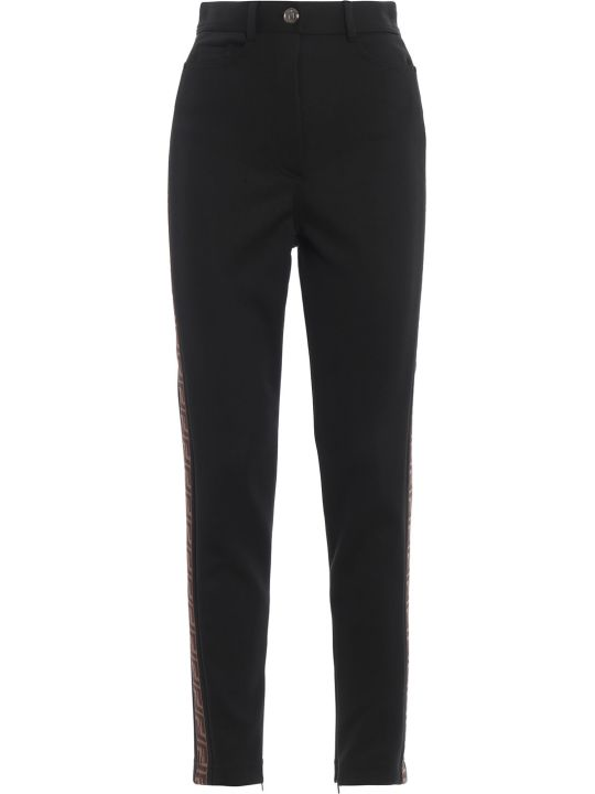 Fendi Side Logo Fitted Trousers