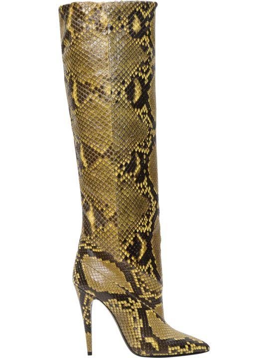 Saint Laurent Abbey Boots In Python