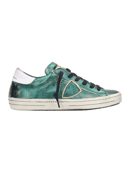 Philippe Model Paris  Sneakers In Green Leather