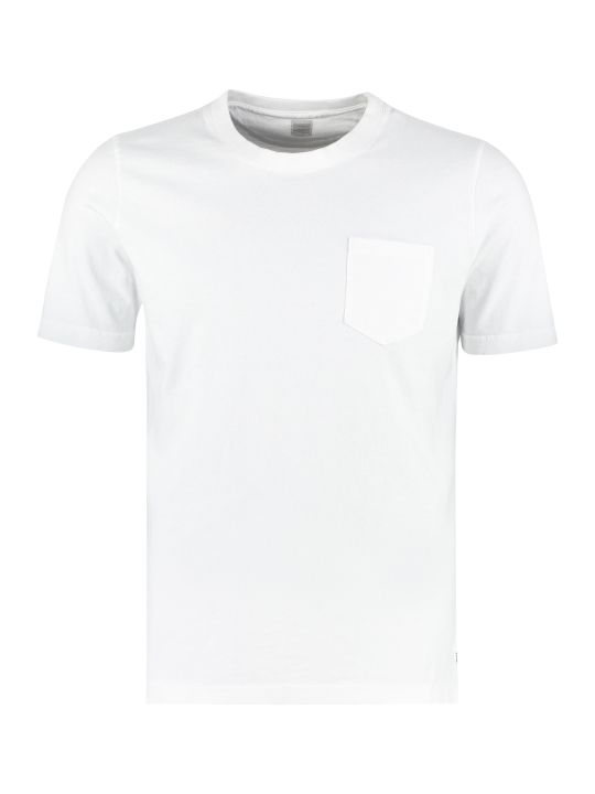 Eleventy Cotton T-shirt With Chest Pocket