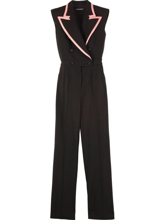 Dolce & Gabbana Maxi Lapel Collar Jumpsuit