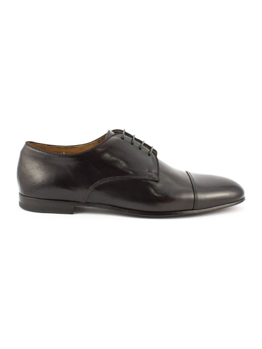 Doucal's Brown Leather Derby Shoes