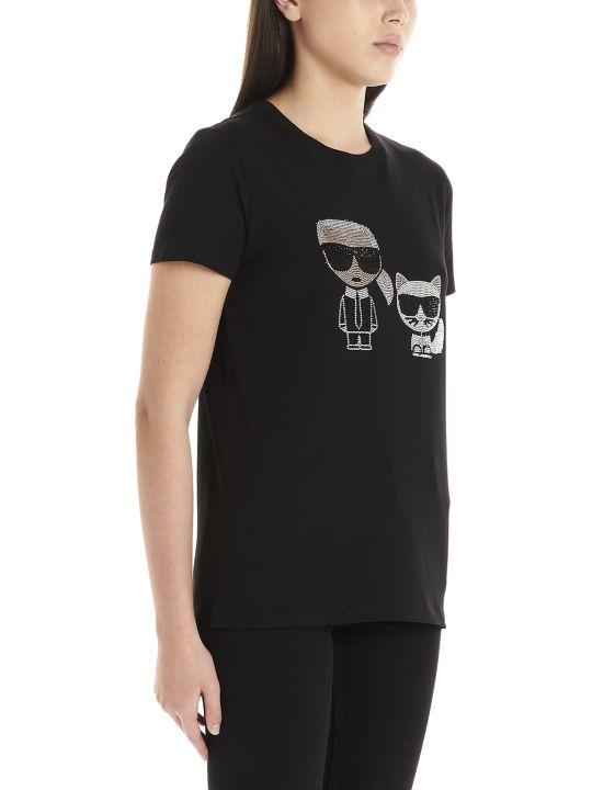 Karl Lagerfeld 'ikonic Karl & Choupette' T-shirt