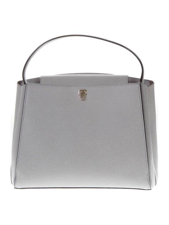 Valextra Brera Medium Bag In Ashen Colored Leather
