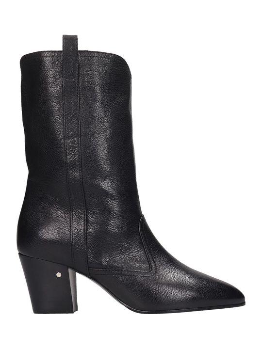 Laurence Dacade Simona High Heels Ankle Boots In Black Leather