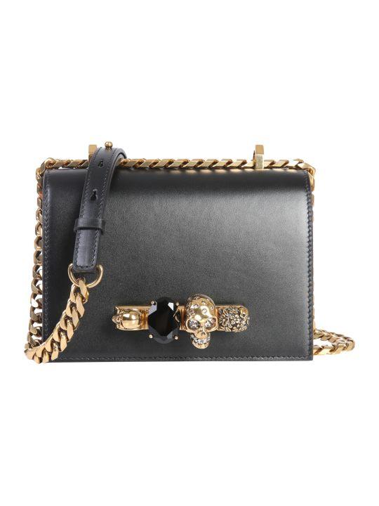 Alexander McQueen Small Jeweled Satchel Bag