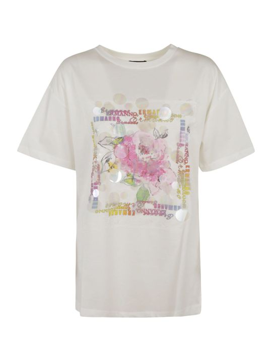 Ermanno Scervino Front Flower Detail T-shirt