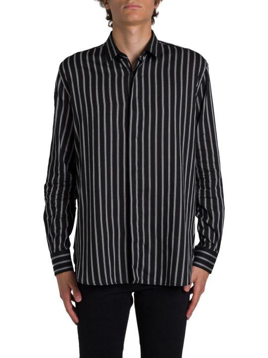 Saint Laurent Shirt With Chalk Stripes