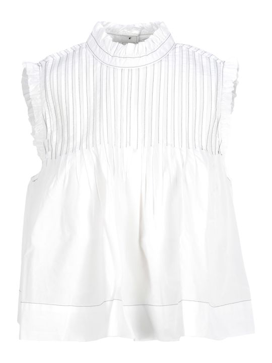 Ganni Pleated Blouse