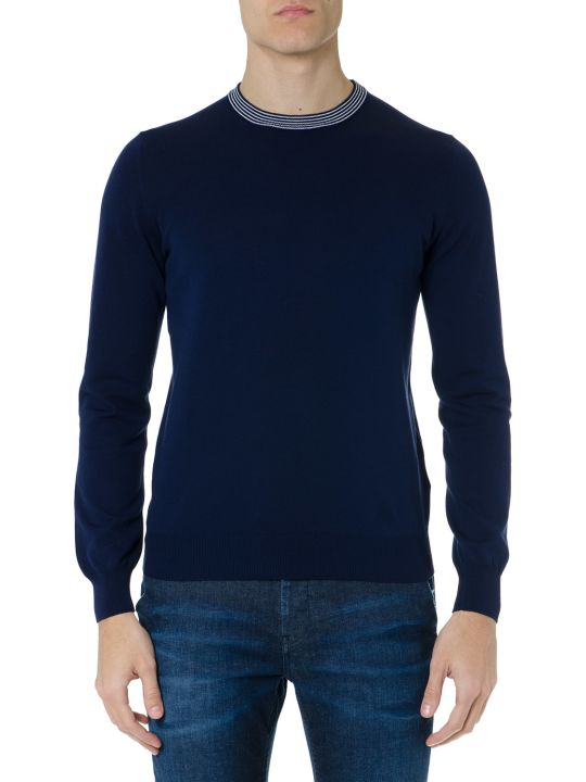 Fay Blue Wool-cotton Blend Jumper