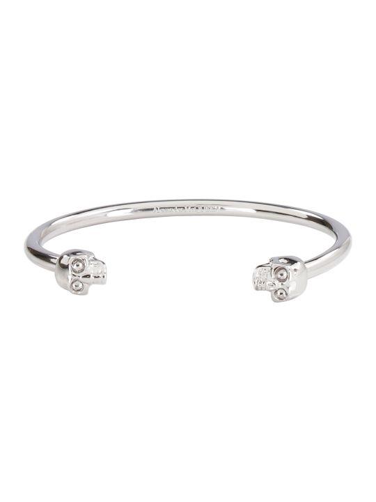 Alexander McQueen Twin Skull Brass Bracelet