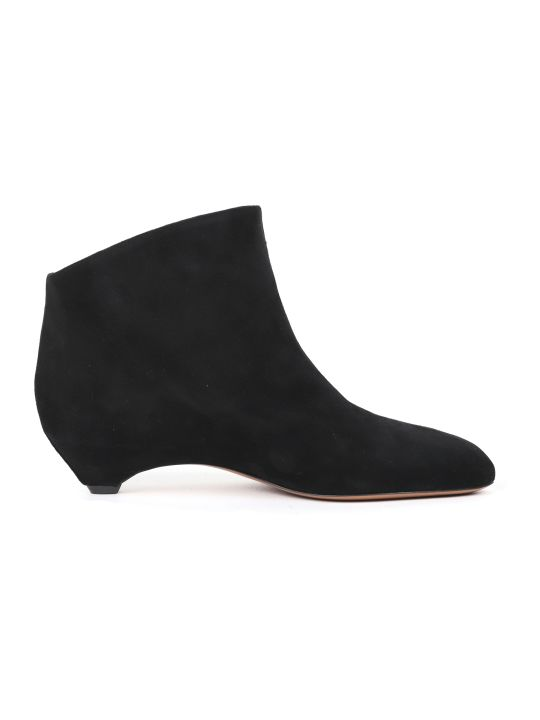 Alaia Black Suede Boots
