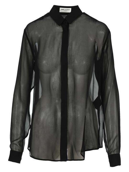 Saint Laurent Silk Sheer Shirt