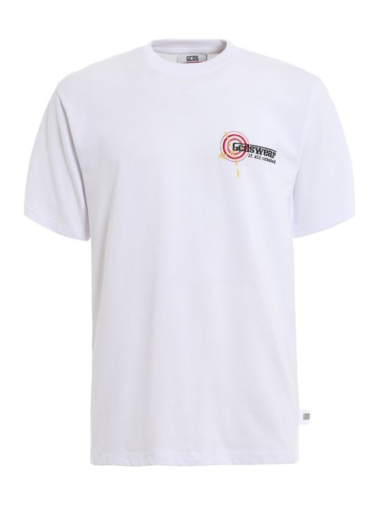 GCDS Target Embroidered T-shirt
