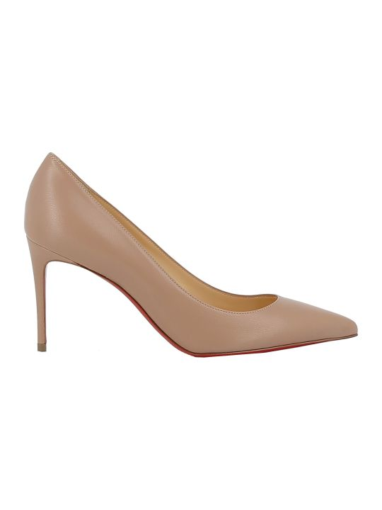 Christian Louboutin Woman's Nude Leather Pumps