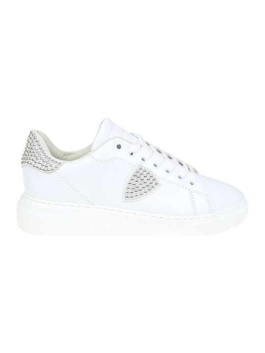 Philippe Model Sneakers Temple In Pelle Colore Bianco