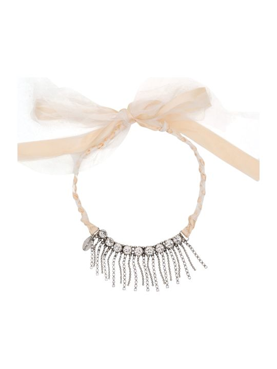 Forte_Forte Choker With Crystals And Fringing